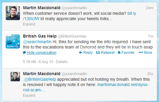 dyno rod british gas scam